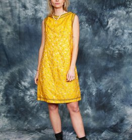 Yellow 70s dress