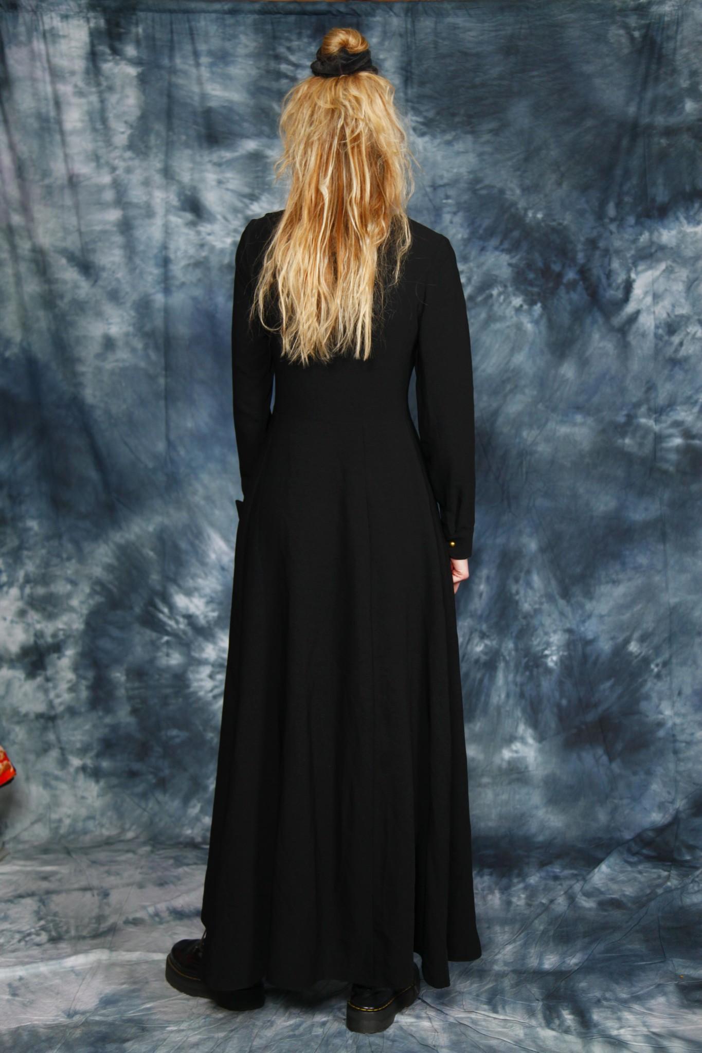 Black 90s maxi dress