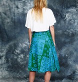 Colorful 70s wrap skirt