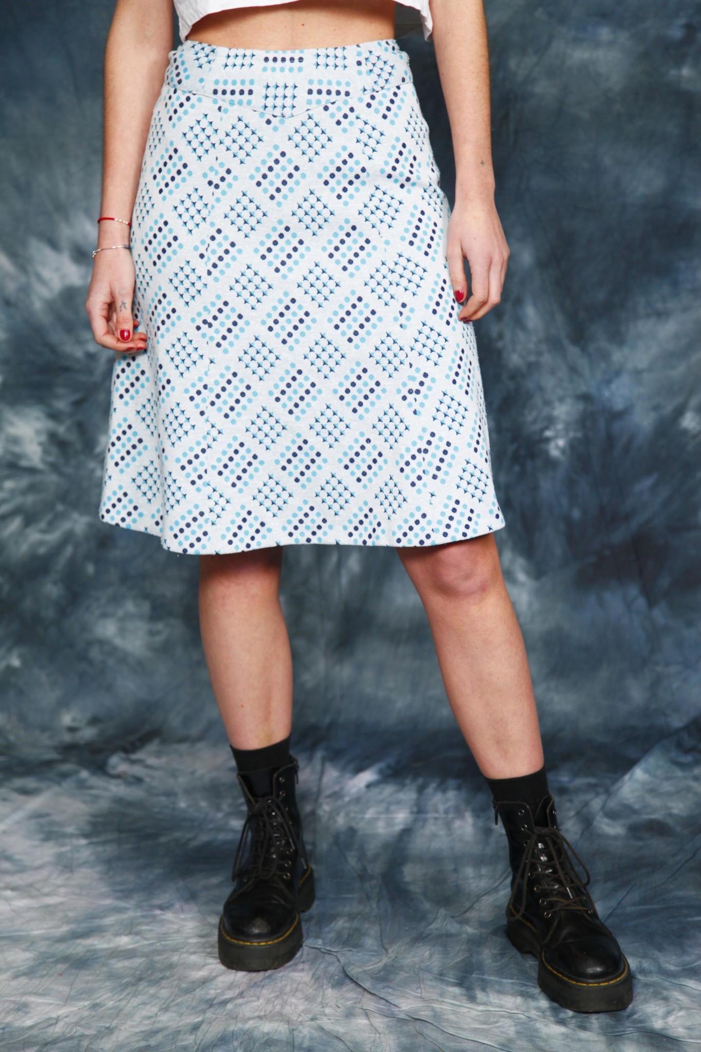 Blue 70s skirt