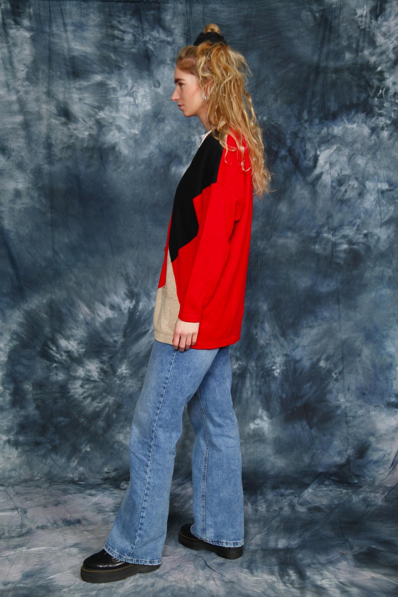 Printed 80s cardigan