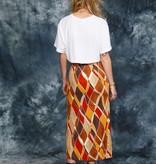 Printed 80s skirt