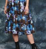 Floral 80s midi skirt