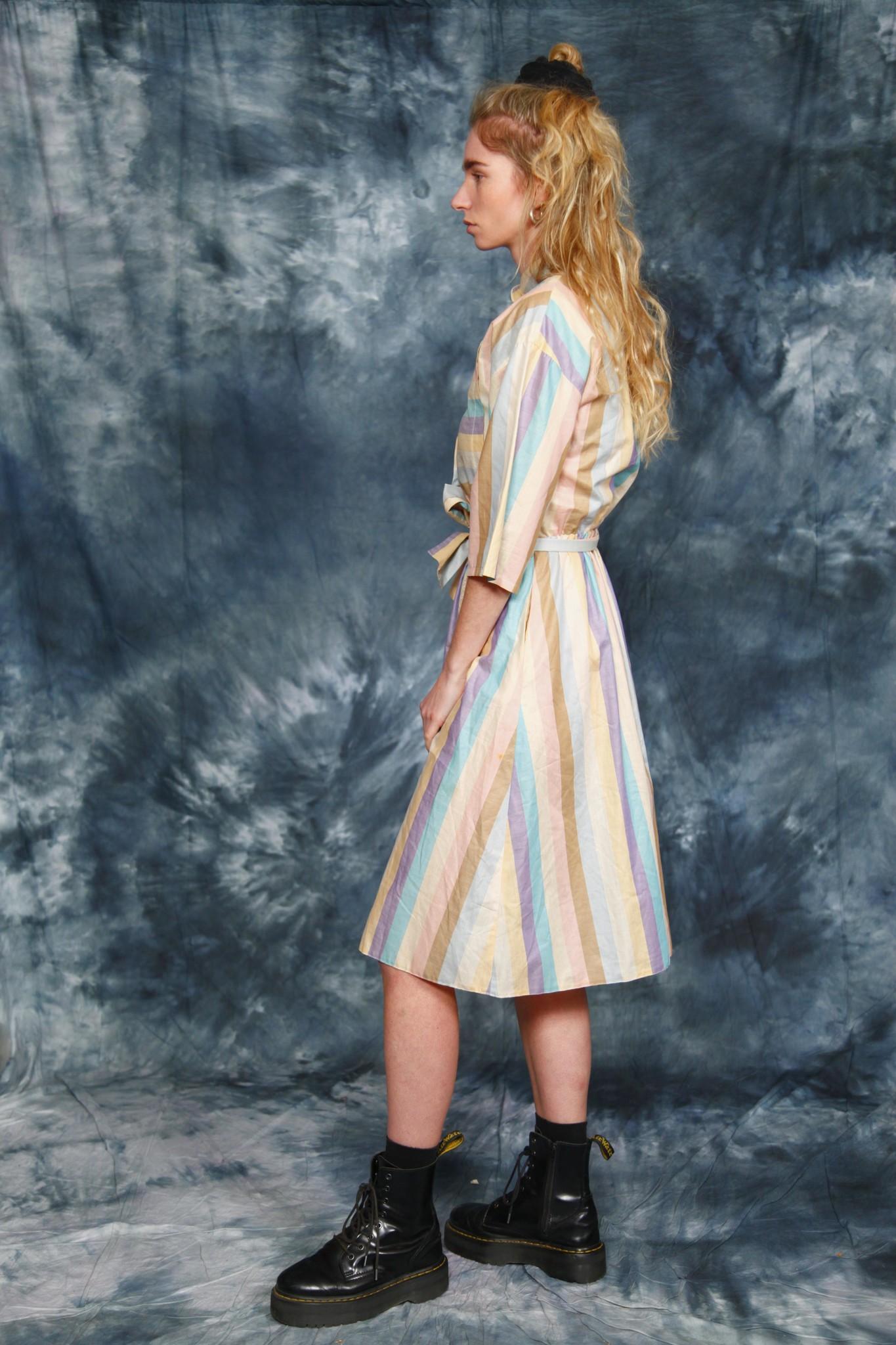 Striped 80s dress