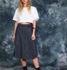 Printed 70s wrap skirt