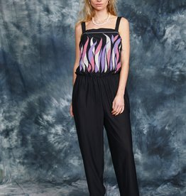 Black 80s jumpsuit