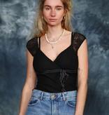 Black 00s lace top