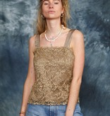 Gold 00s lace top
