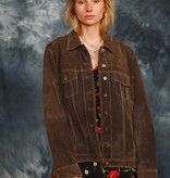 Brown 80s  suede jacket