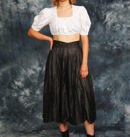 Black 80s leather skirt