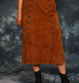 Brown 80s suede skirt