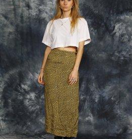 Brown 90s pencil skirt