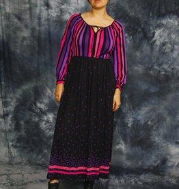 Printed 80s maxi dress