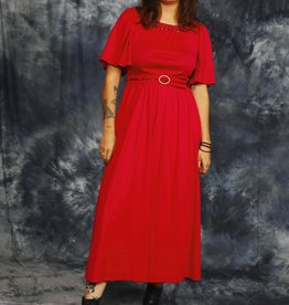 Fuchsia 80s maxi dress