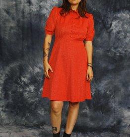 Orange 70s mini dress