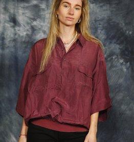Purple 90s silk shirt