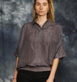 Grey 90s silk shirt