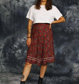 Paisley 70s skirt