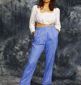 Linen 90s trousers in blue
