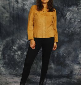 Classic suede blouse in brown