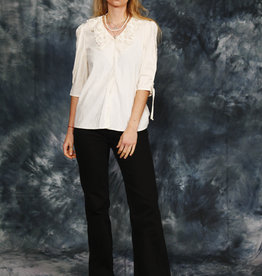 White cotton blouse