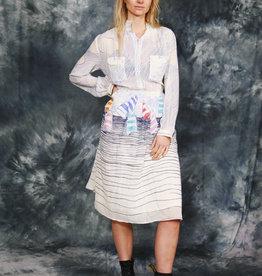White 80s midi dress