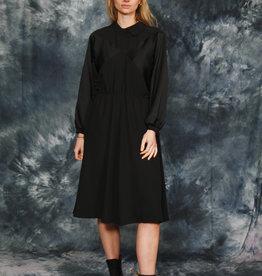 Black 70s midi dress