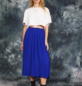 Blue 90s midi skirt