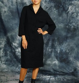 Classy winter dress in black