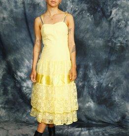 Yellow 80s prom dress