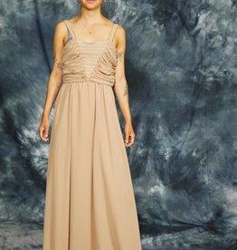 Beige 80s maxi dress