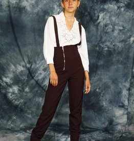 Cool 80s jumpsuit in brown
