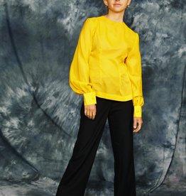 Yellow 70s blouse