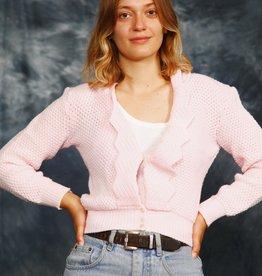 Pink 70s cardigan