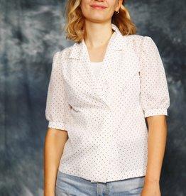 Polka dot 80s blouse