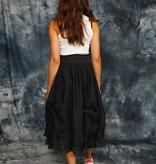 Black 80s skirt in black