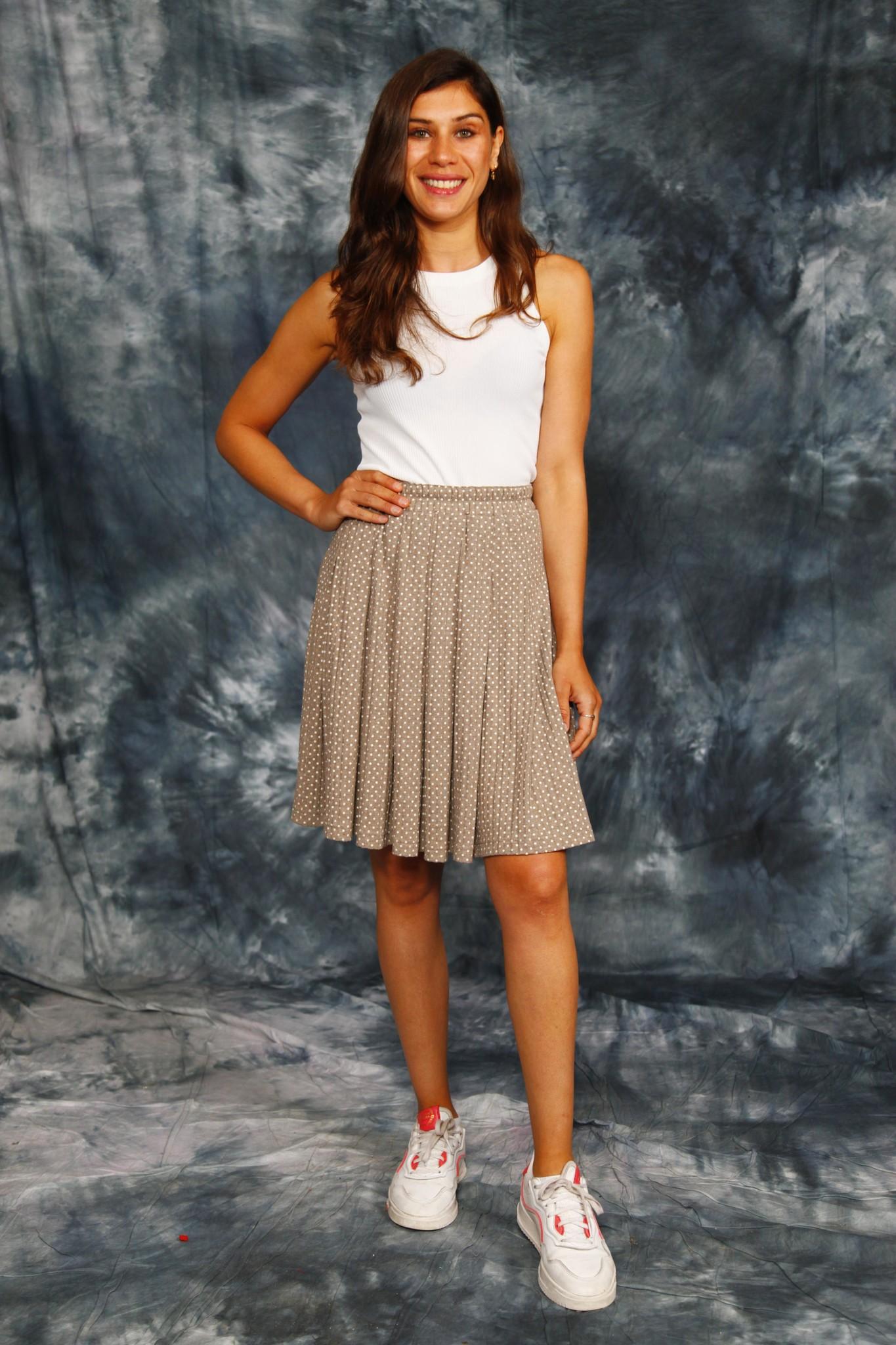 Classic polka dot skirt