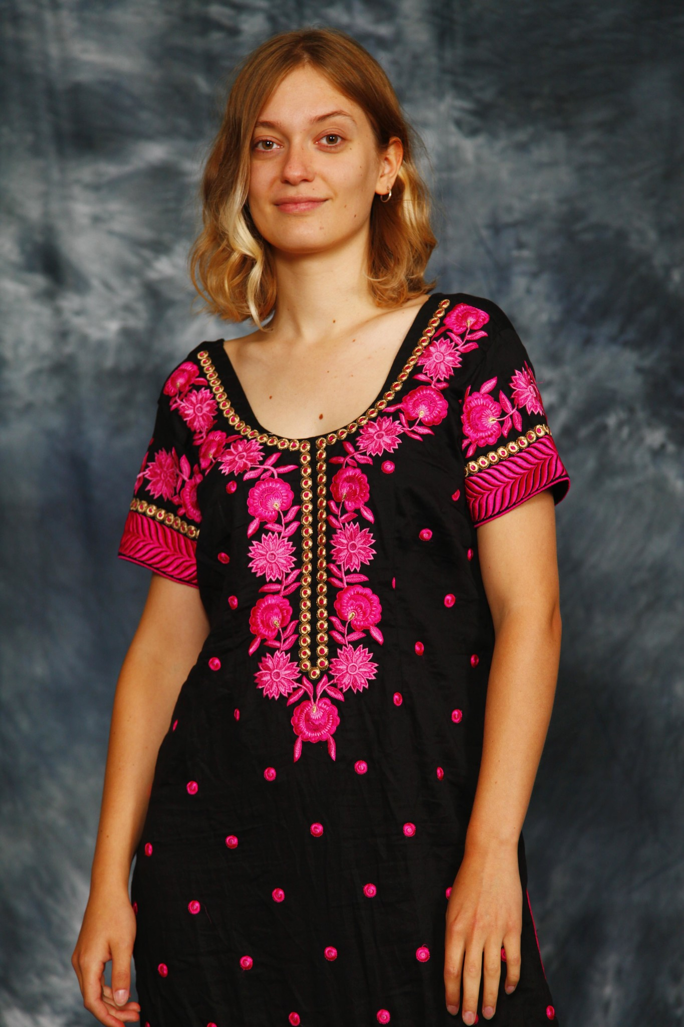 Floral 90s tunic dress