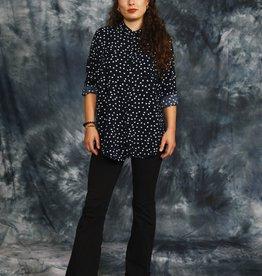 Blue 90s polka dot shirt