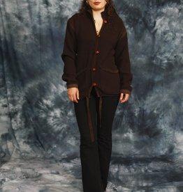 Brown 70s cardigan