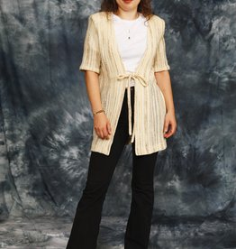 Beige 70s stretch cardigan
