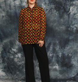 Printed 90s blouse