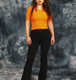 Orange 70s stretch top