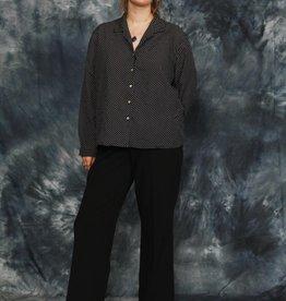 Classy 80s polka dot blouse