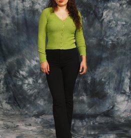 Green 70s cardigan