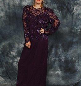 Festive 80s maxi dress