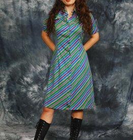 Striped 70s dress