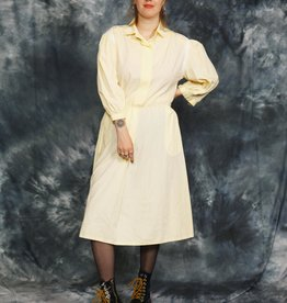 Yellow 80s dress