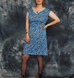 Floral 70s mini dress
