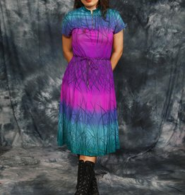 Floral 80s dress with all-over print